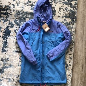 Patagonia Water Repellant Parka Jacket, NWT